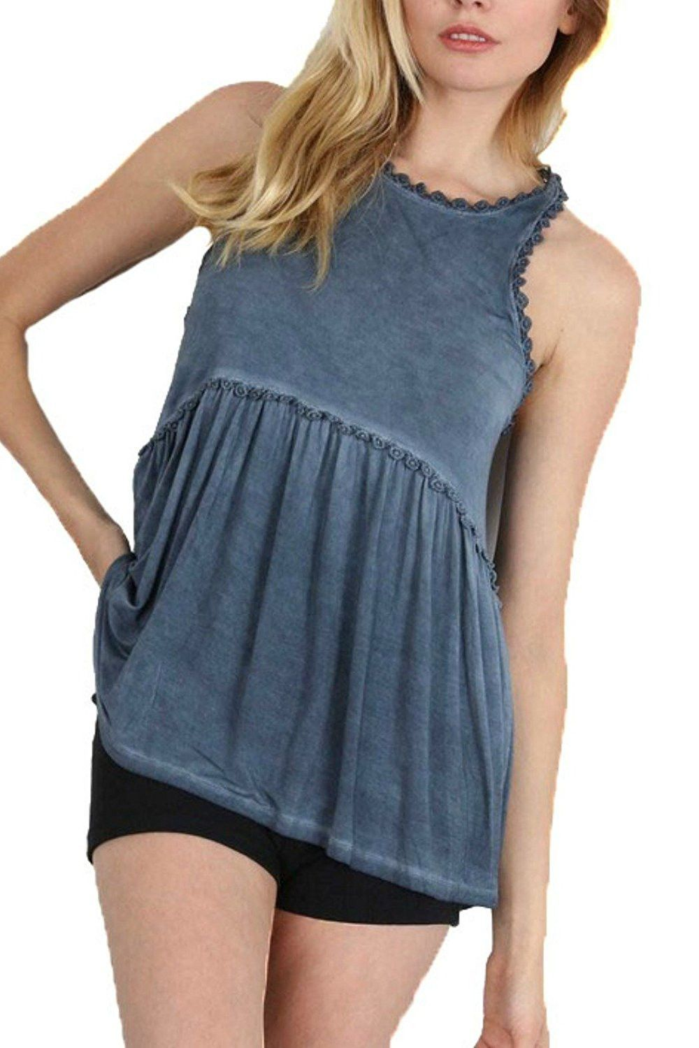 94ea7794cad33 Pol Clothing Women s Baby doll Racer back Tank Top
