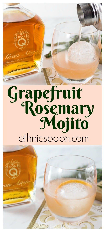 Grapefruit Rosemary Mojito #grapefruitcocktail