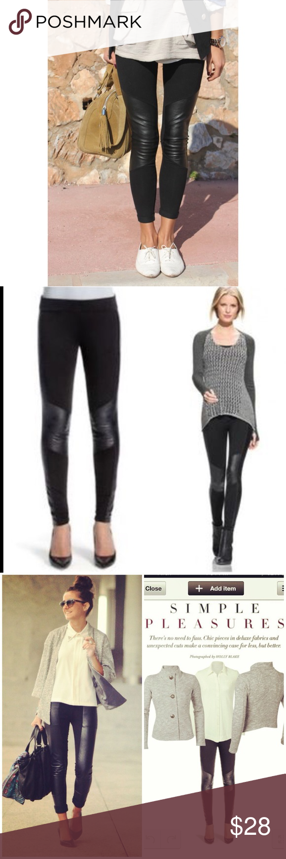 990c7b27b0217 CAbi Black Vegan Leather Ricky Moto Leggings XS CAbi Black Vegan Leather  Ricky Moto Leggings Size