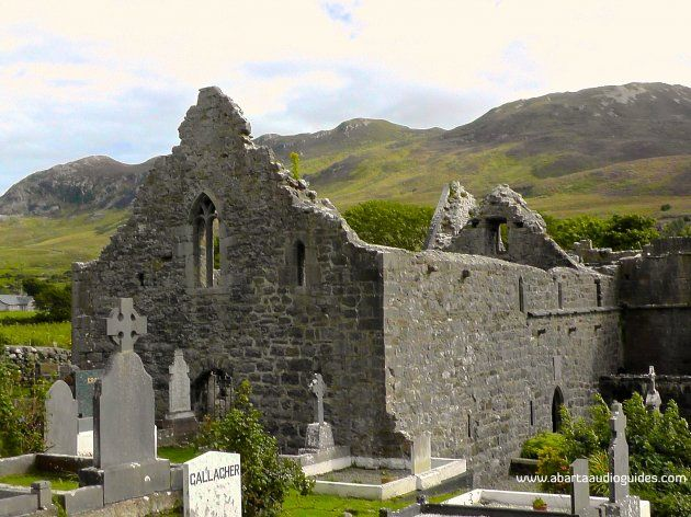 Murrisk Friary, Co. Mayo-The Friary is thought to have been founded in 1456 and was handed over to the Augustinian Friars.