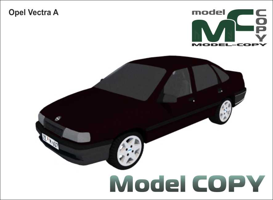 Opel Vectra A 4 Tuerer 3d Model Model Copy In 2020 Opel Vectra Opel Scale Models