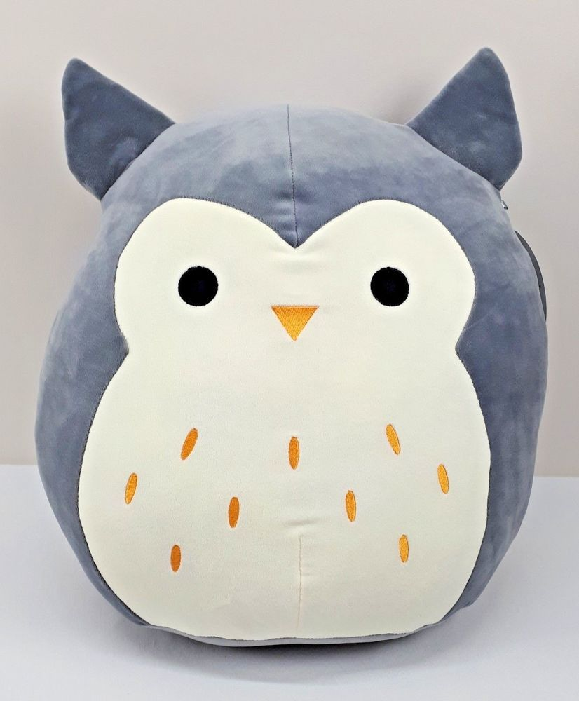 Squishy Squooshems Grey Owl Big Super Soft Plush Toy 18 Pillow Kellytoys New Sewing Stuffed Animals Animal Pillows Cute Stuffed Animals [ 1000 x 826 Pixel ]