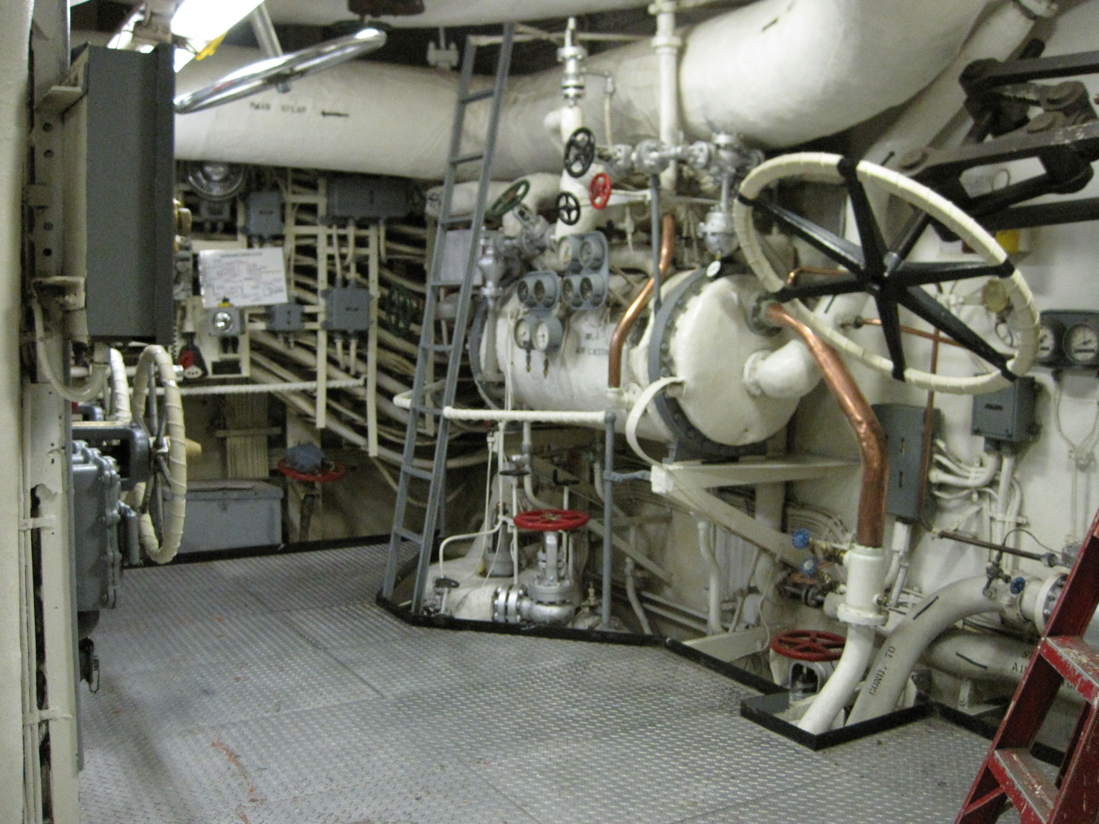 Engine Room #1 on the Fourth Deck