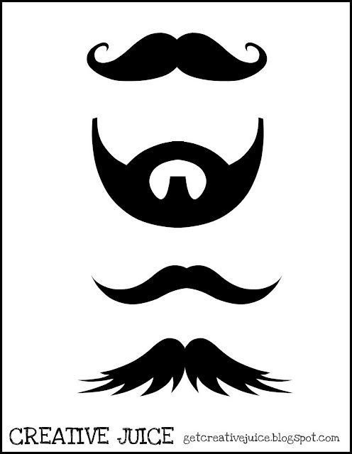 photograph about Printable Mustaches titled Thing to consider youd appreciate All those printable mustaches :) and a beard