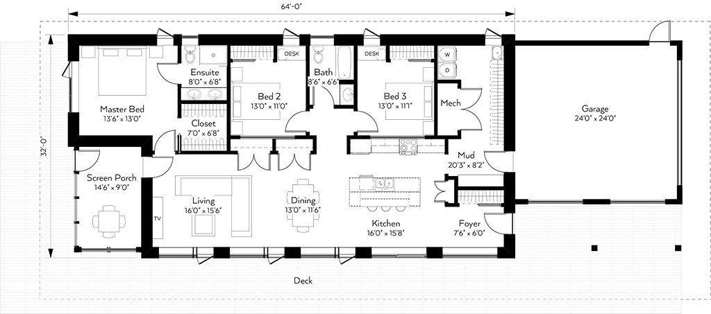 1856 Sf Glen Tosh Solar House Plans Passive Solar House Plans Passive House Design