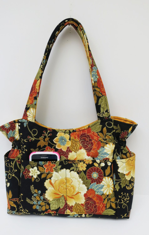 9e53ce51a Multi Gold Green Red Shoulder Bag Purse, Golden Travel Handbag, Quilted  Handmade Fabric Purse, Sling Bag, Tote Purse, Diaper Bag, Diaper Bag by ...