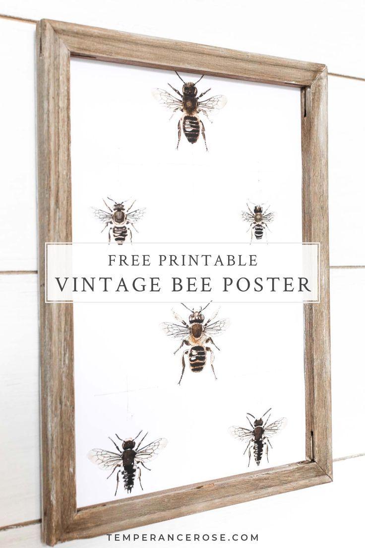 Bee Print Wall Art Collecting Pollen Printable Photos Bee Art Download Printable Art Bee Art Bee Printable Printable Wall Art