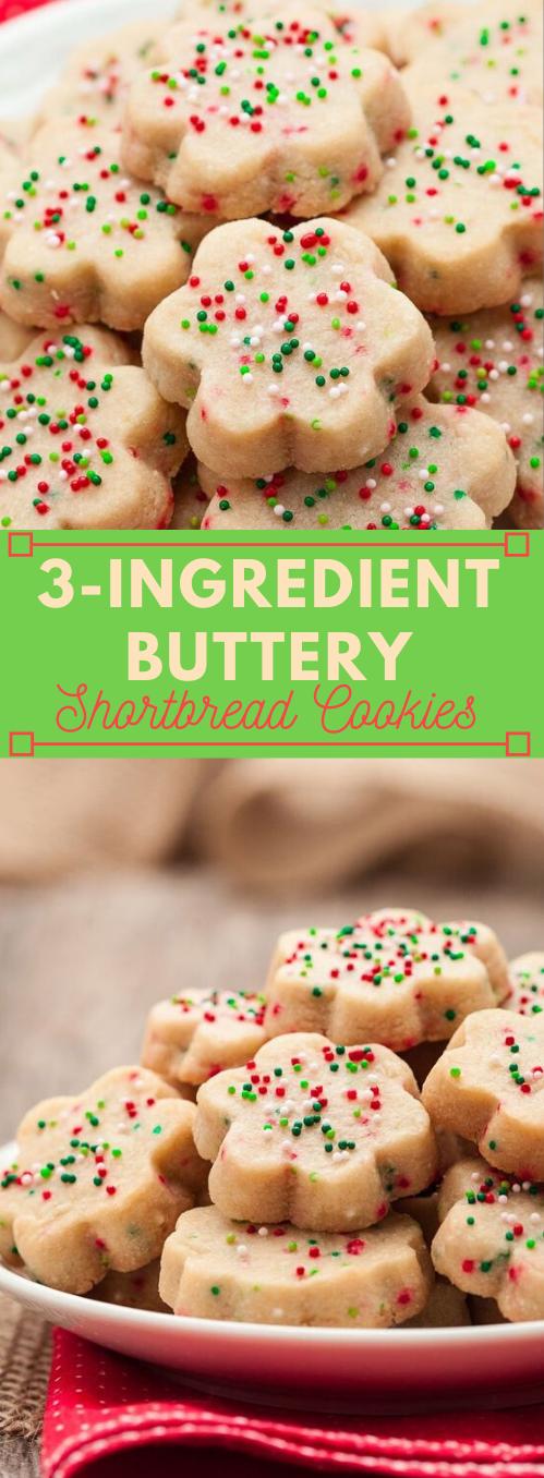 3-INGREDIENT BUTTERY SHORTBREAD COOKIES #desserts #3ingrediens #cookies #butter #pumpkin