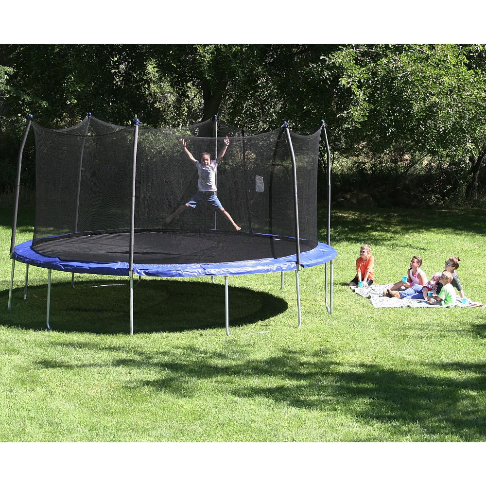 The Skywalker 17 X 15 Elite Oval Trampoline And Enclosure Is The
