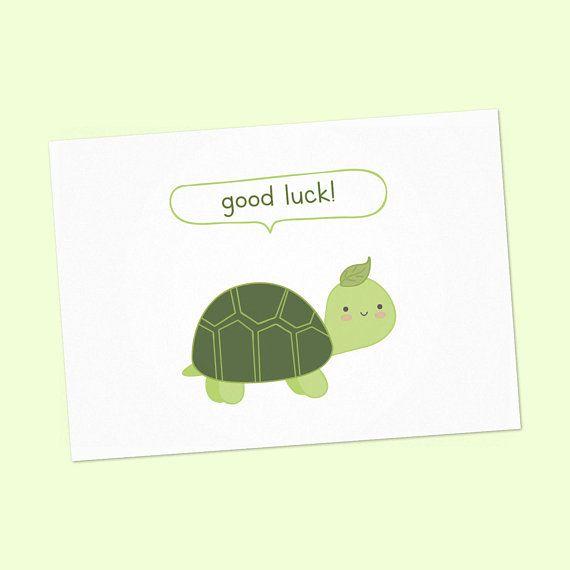Good Luck cards, printable good luck card, good luck card with cute