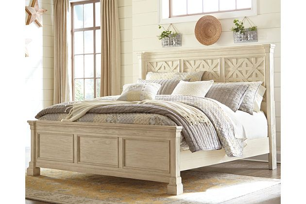 Best Bolanburg Queen Panel Bed White Paneling White Panel 640 x 480