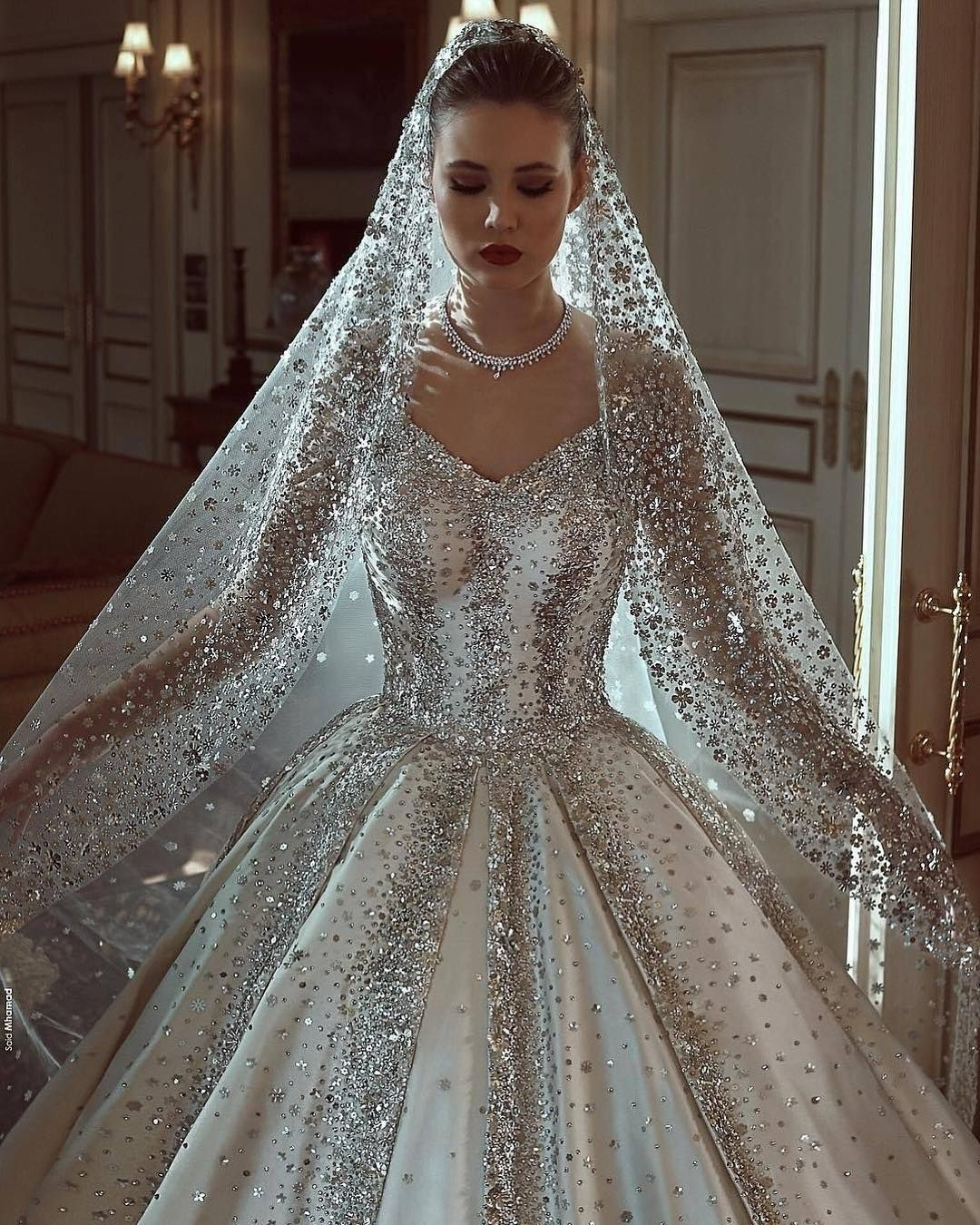 Craziest Wedding Dresses Ever Worn: Never Let Your Sparkle Dull! @sadekmajedcouture New 2018