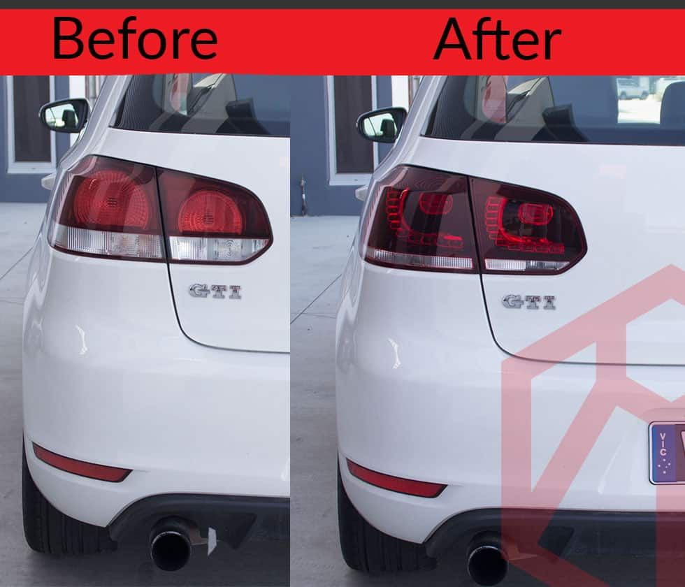 Vw Golf Mk6 Vi 2009 2013 Led Tail Lights R Style For Gti Tdi Tsi