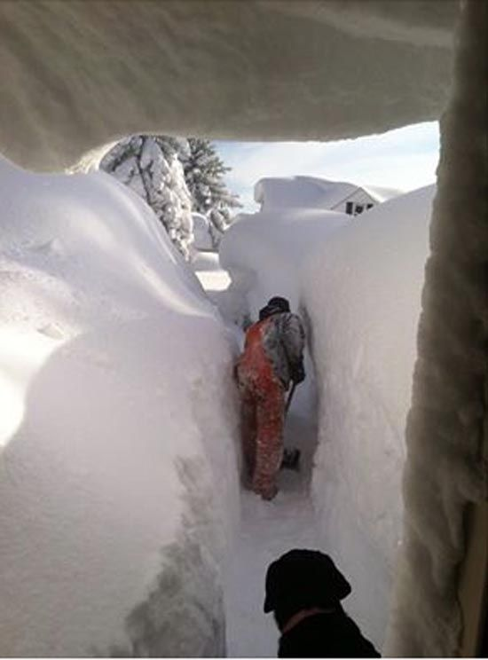 Image result for snow drifts around house. maze