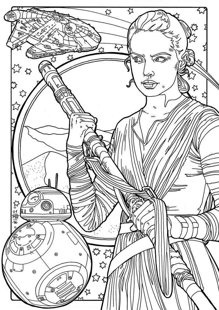 Rey By Miasteingraeber On Deviantart Star Wars Coloring Book