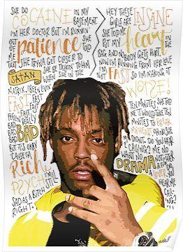 'Juice WRLD Rapper / Hip Hop' Poster by Naomillustrates