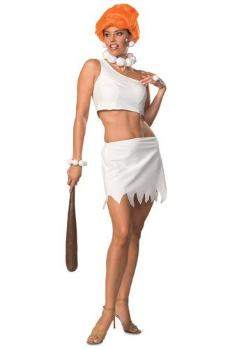 Wilma Flintstone The Flintstones Dress Child Girls Halloween Costume White NEW