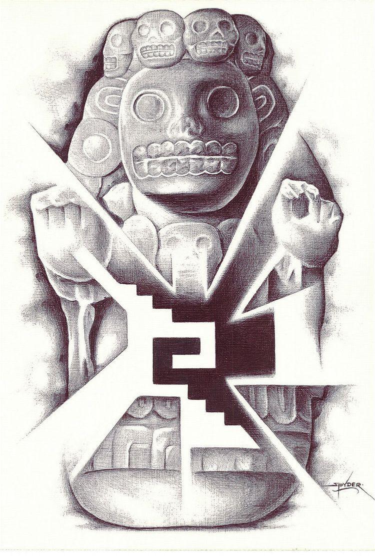 ad6e8106e Aztec Drawing   El primero   Aztec drawing, Aztec tattoo designs, Art