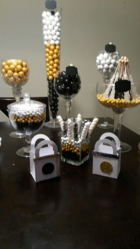 Black Gold White Candy Table Candy Table White Candy Table White Candy