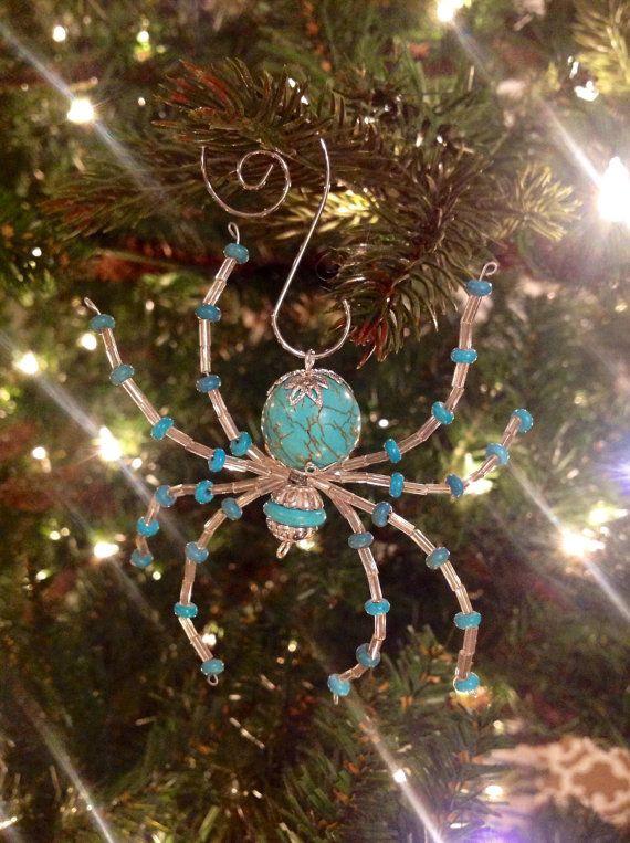 Ukrainian Christmas Spider Ornament - Turquoise ...