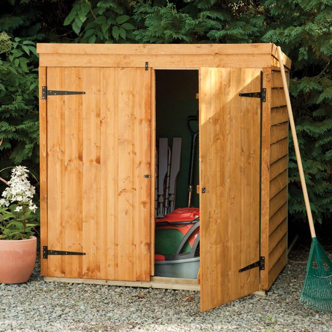 outdoor small storage overlap dip treated pent wood mower store 47 x - Garden Sheds 7 X 3