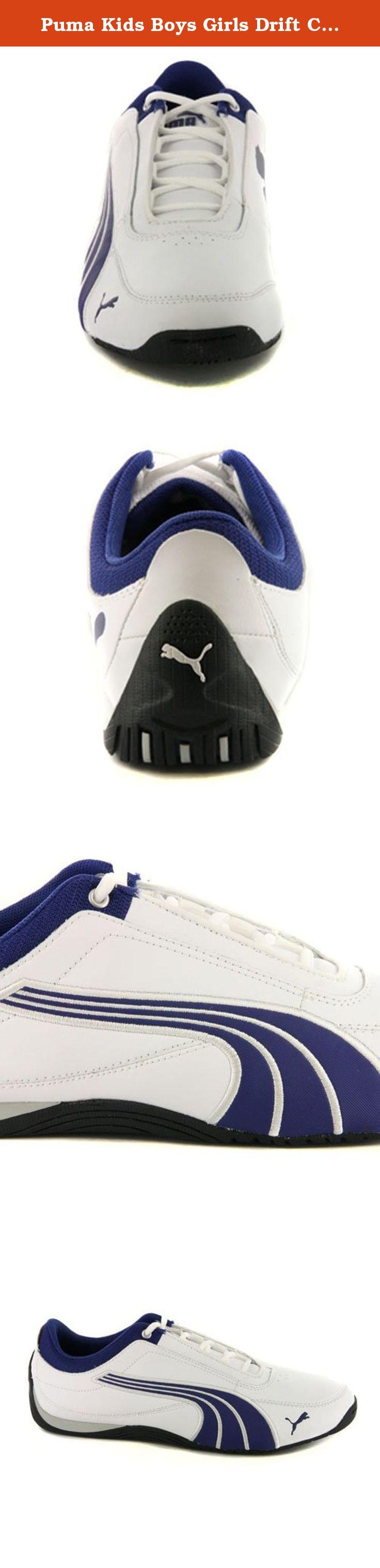 Puma Kids Boys Girls Drift Cat 4 White Leather Sneakers US 5