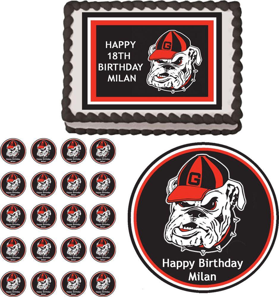 Cake Decorations Georgia Bulldog Edible