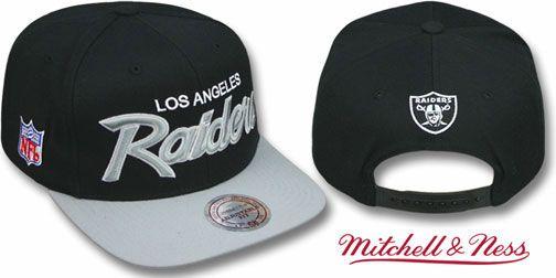 Raiders 2t Team Script Snapback Black Grey Hat By Mitchell Nfl Hats Oakland Raiders Nfl Oakland Raiders