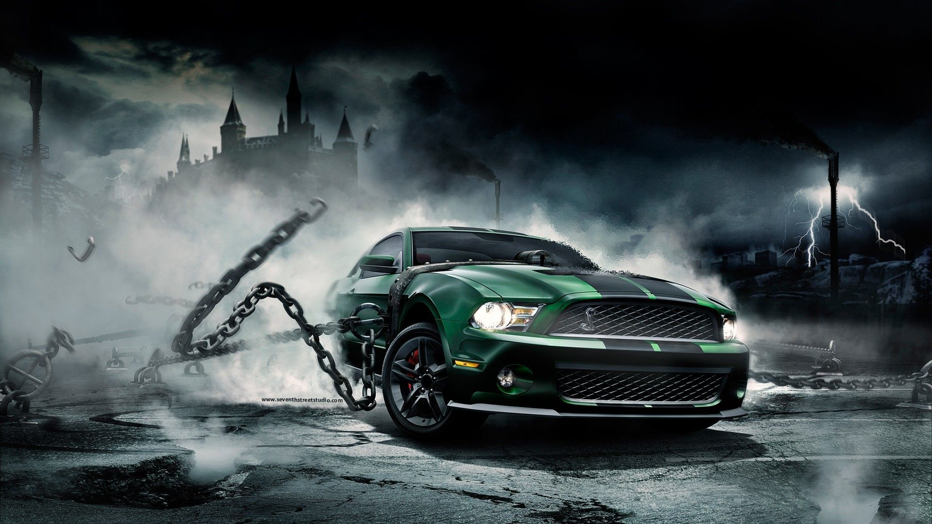 Android wallpaper theme background of mustang monster for your android phones