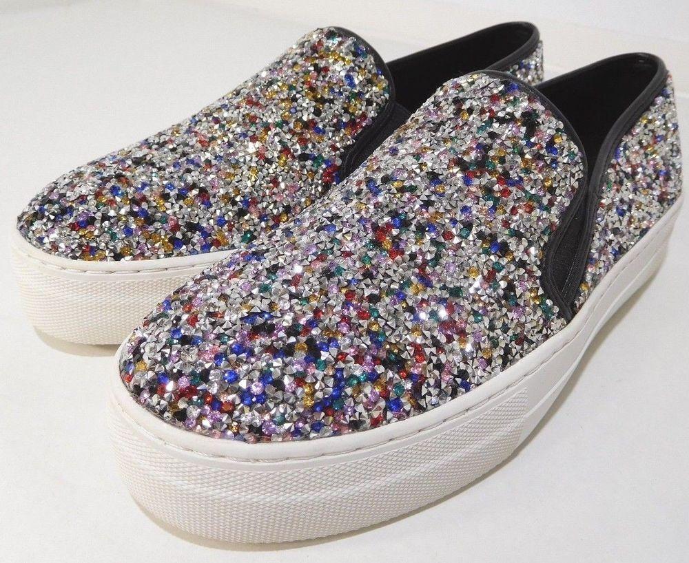 7373148391c Women s Steve Madden Gracious Rhinstone Sneakers US 7.5 8 NEW  SteveMadden   Sneakers