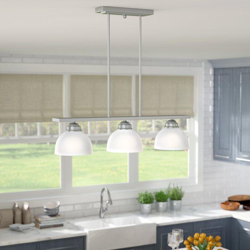 Irwin 3 Light Kitchen Island Linear Pendant In 2021 Kitchen Island Lighting Kitchen Lighting Kitchen Island Pendants