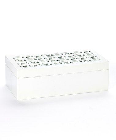 Loving this White Lattice-Top Large Rectangular Box on #zulily! #zulilyfinds