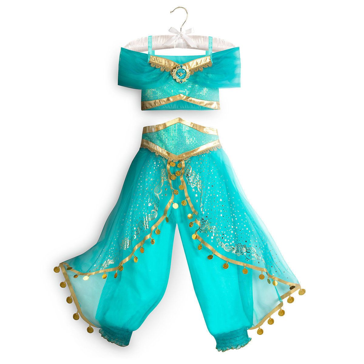 Disney Store Princess Jasmine Halloween Costume Dress Girl Size 5 6 ... ce134192cd84d