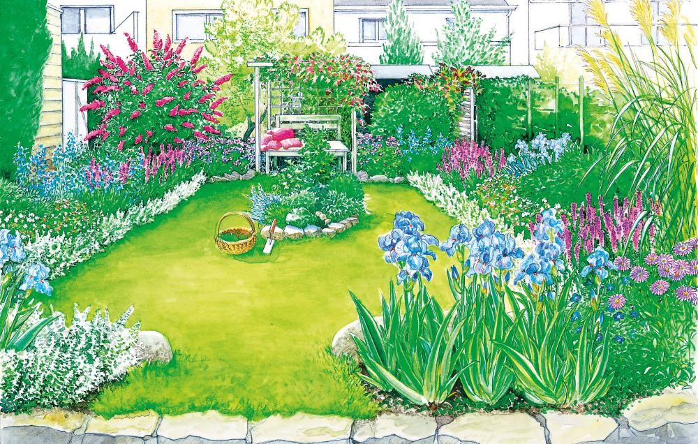 Ein Reihenhausgarten kommt groß raus Apartement Design Pinterest - reihenhausgarten vorher nachher