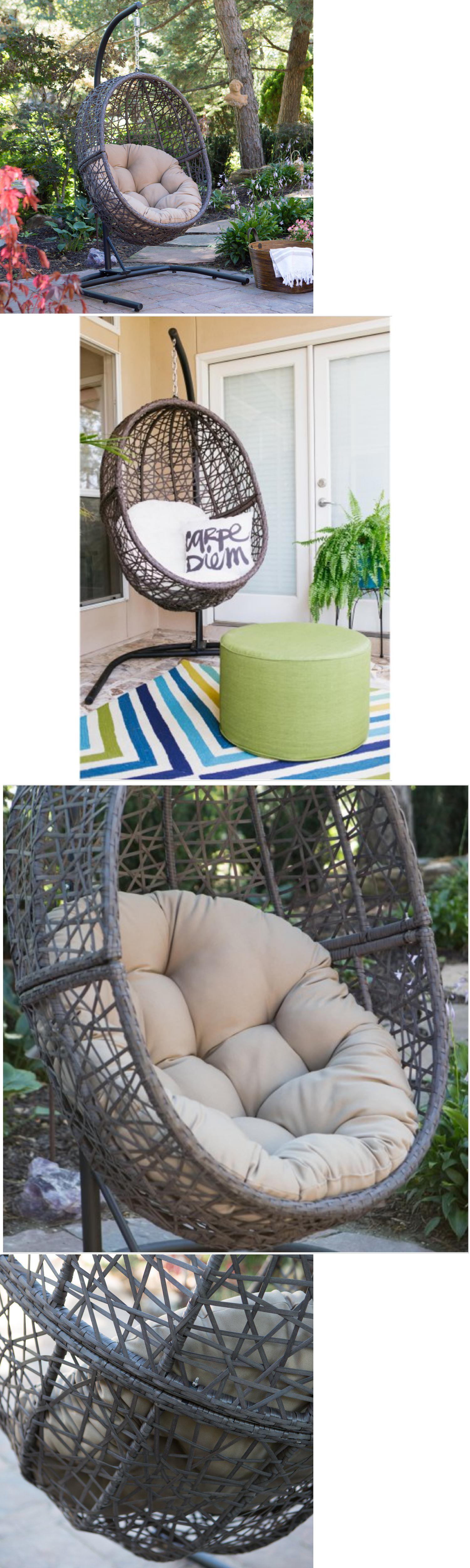 Swings outdoor swing hanging chair hammock egg wicker porch