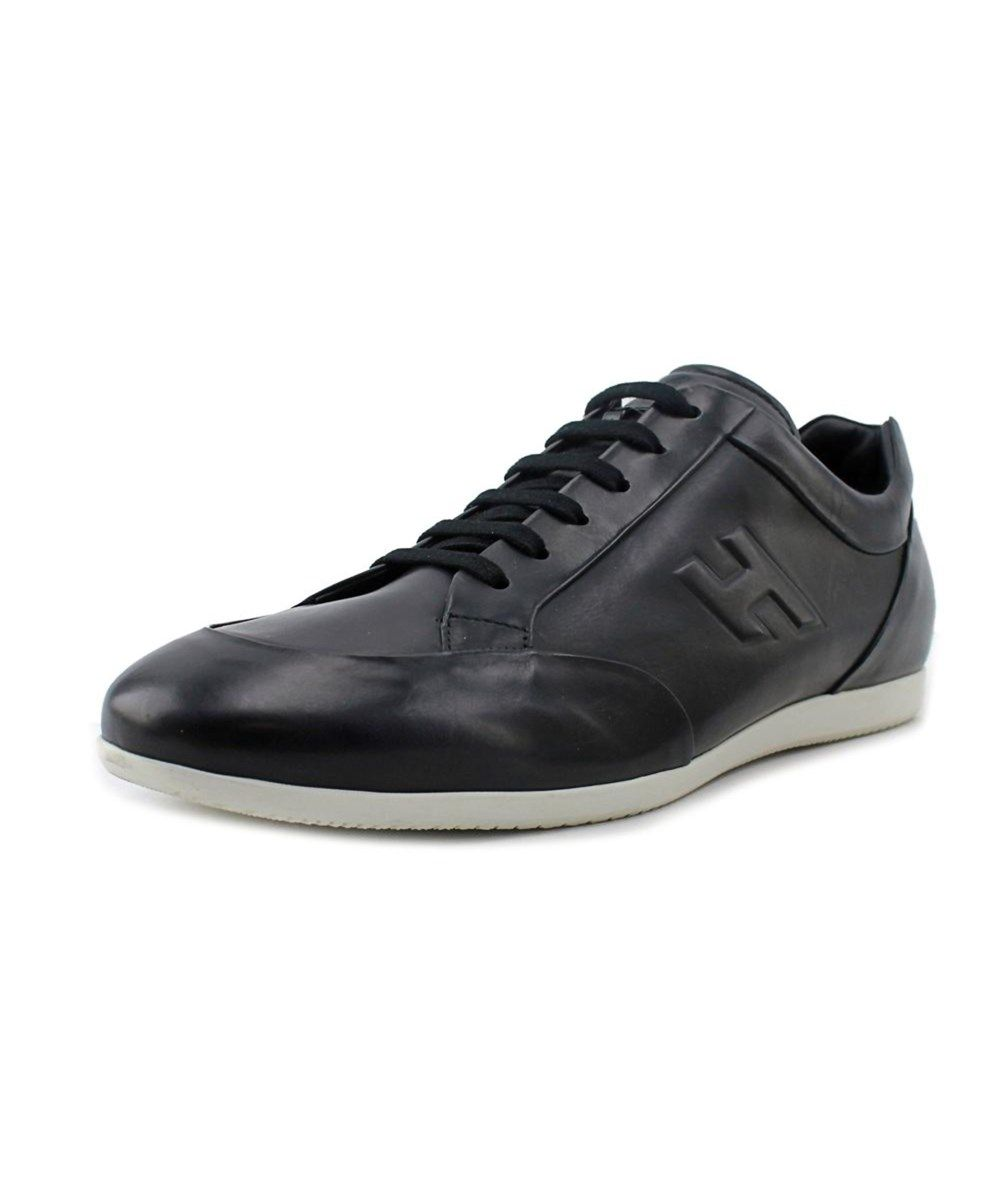 size 40 4488d 57341 HOGAN Hogan Liboria De Santos Men Round Toe Leather Black Sneakers .  hogan   shoes  sneakers