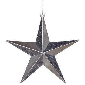 "Vickerman M116027 6"" Pewter Glitter Star, Star Ornament #Christmas"