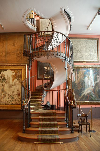 Staircase at Musée national Gustave Moreau in Paris. - I loved visiting this beautiful studio in Paris. I know it is in a museum but I must have this in my dream home!!