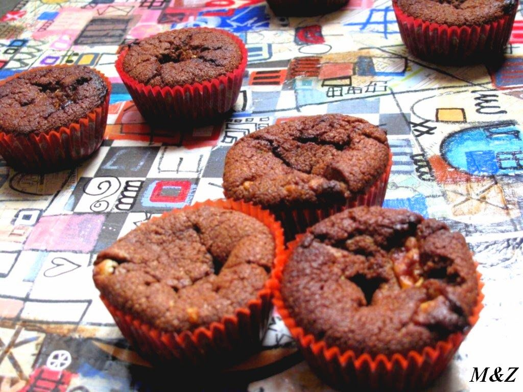 Muffins double chocolat http://m-and-z.blogspot.de/2014/12/muffin-extra-moelleux-double-chocolat.html M&Z, chocolat noir, chocolat blanc, muffins, sucré, pâtisserie