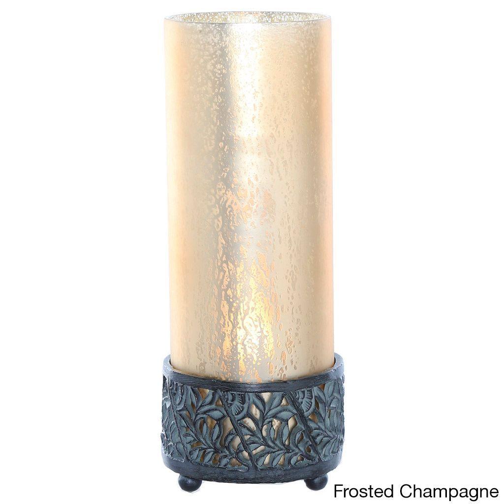 River of Goods Studio Art Mercury Glass 12.9-inch HIgh Round Uplight Accent Lamp