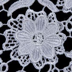 White 3D Floral Guipure Lace