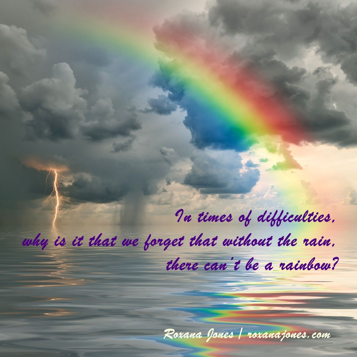 Inspirational quote a rainbow of hope inspirational Inspirational quotes about hope