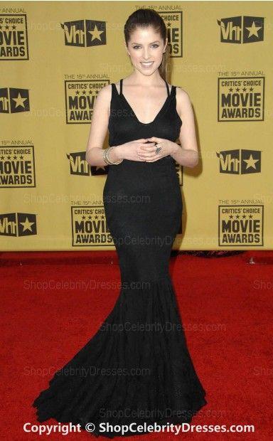 Anna Kendrick Black Evening Dress