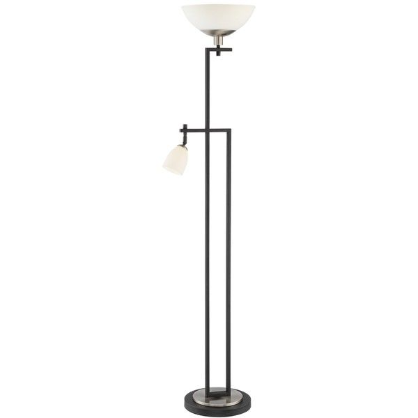 Halifax Led Torchiere Floor Lamp With Reading Side Light 230