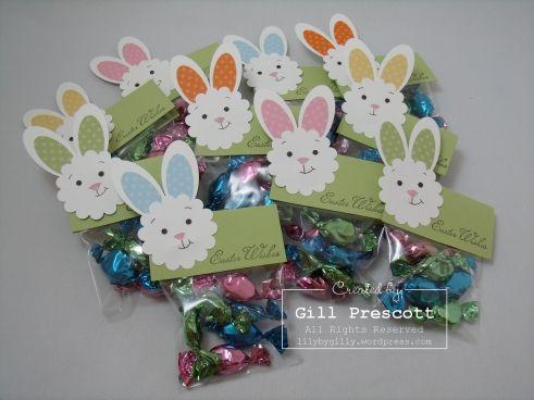 Easter punch art bunnies