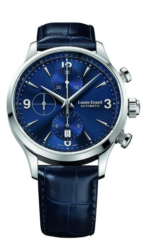 8afad79fa252 Men watches   Watches best price Louis Erard Heritage Collection Swiss  Automatic Blue Dial Men s Watch 78225AA05.BDC37