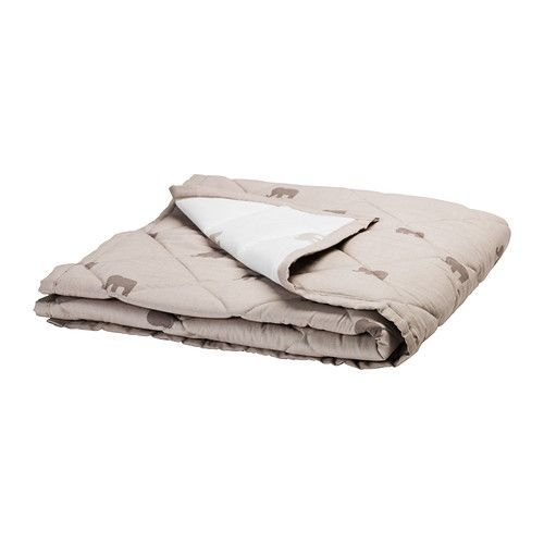 IKEA LEN DUVET QUILT FOR BABY COT WHITE 110 x 125 cm For Ages Above 12 months