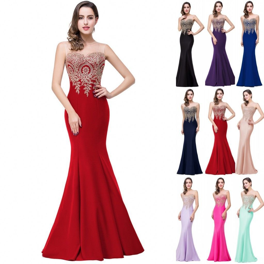 Long dresses to wear to a wedding  Long Evening Prom Dress Formal Party Ball Gown Bridesmaid Wedding US