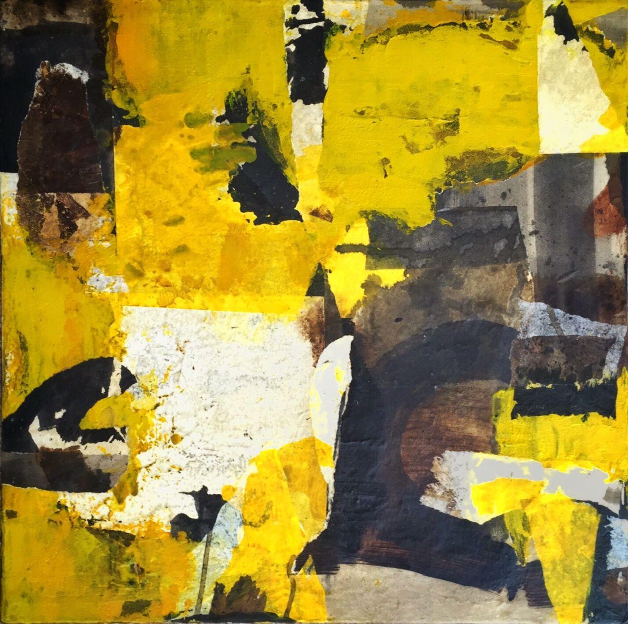 """Ivana J. Bucci — """"Premonizione in ritardo"""" abstract on canvas"""