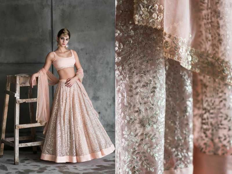 15 Beautiful Pastel Lehengas For Brides And Bridesmaids Plus Where To Buy Them Bridesmaid Outfit Brides And Bridesmaids Indian Dresses